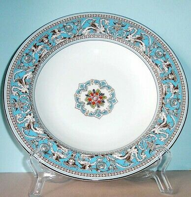 Wedgwood FLORENTINE TURQUOISE Rim Soup Bowl 9-Inch Made in U.K NEW