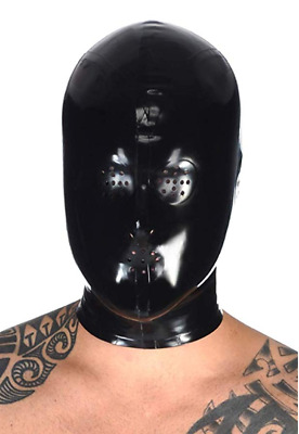 Latex Hood Rubber Gummi Full Face Fly Eyes Mesh Mouth Ears Unique Customize .4mm