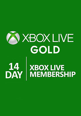 XBOX LIVE 14 Day GOLD Membership Instant Delivery!