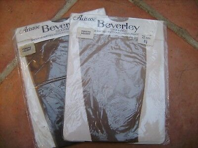 Aristoc Beverley 2 Pairs Size 8 1/2 Sheer Seamfree Stockings Persian Delight