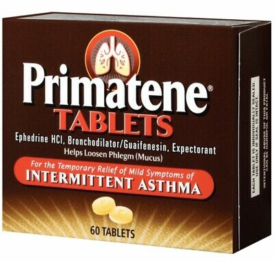 Primatene 60 Tablets Allergy & Asthma Relief Like Bronkaid Same Day Shipping