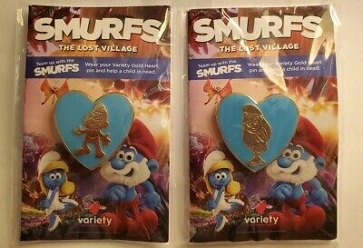 Smurfs The Lost Village Smurfette, papa smurf Pin lot Varaiety