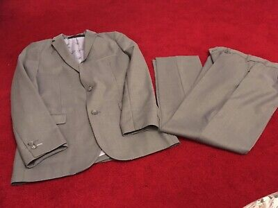 Boys Marks & Spencer Autograph Silver Two-piece Suit Aged 12 Years