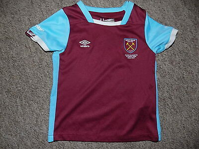 childs west ham united fc home football shirt by umbro size 18-24 months