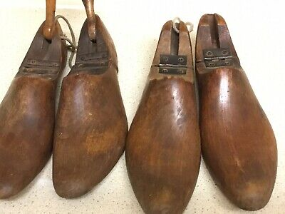 Two Pairs Of Vintage Shoe Trees Size 4 & 5