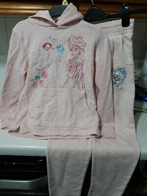 """Lovely pale pink tracksuit set from Disney """"Elsa"""" age 8-9 years"""