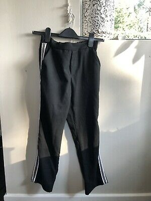Zara Girls Black Trousers With Side Stripe Age 13/14yrs