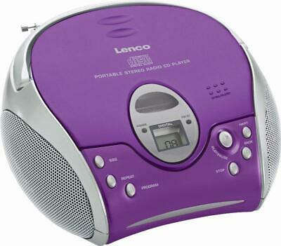 4 Stück Lenco UKW-Radio m.CD SCD-24 purple purple Radios-Recorder UKW-Radio