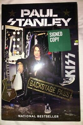 Paul Stanley Backstage Pass Autographed Signed Book HC/DJ 1st/1st NEW Kiss