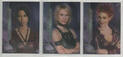 Andromeda Women of Set of 3 Trading Card No's BL1 - BL3