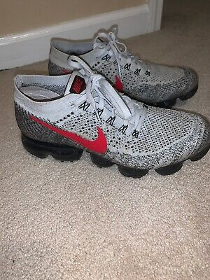nike vapormax flyknit 1 Size 9 Red White And Black