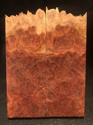 1 Pair Knife Scales~ Red Mallee Burl