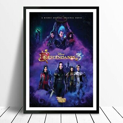 Descendants 3 Disney Movie Poster Wall Art Print Christmas Gift Xmas New Year