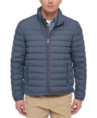 TOMMY HILFIGER MEN'S Olive Green Quilted Packable Down