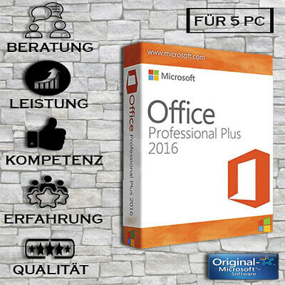 Office 2016 Professional Plus - 1/5PC - 32&64 bits - ESD Versand per email