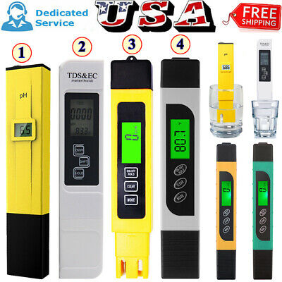 Electric PH/TDS/EC/PPM Conductivity Meter Tester Hydroponics Water Test Tool US