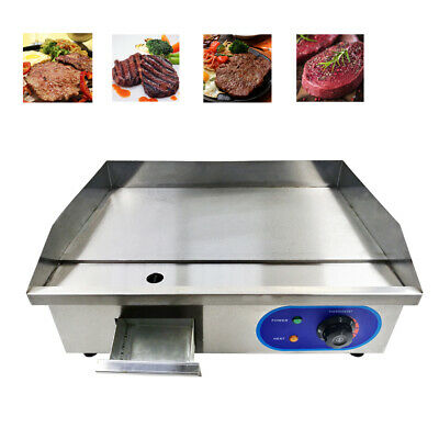 Commercial Electric Griddle Flat Hotplate BBQ Grill Stainless Steel Countertop