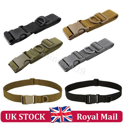Adjustable Quick Release Army Belt Military Trouser Tactical Canvas Webbing