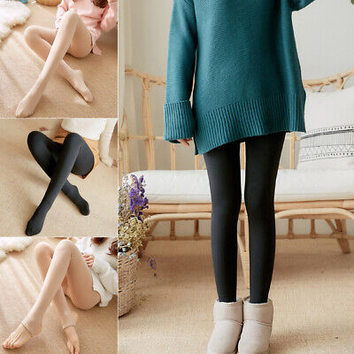 Women Winter Thermal Thick Warm Fleece Lined Stretch Pants Sexy Slim Leggings US