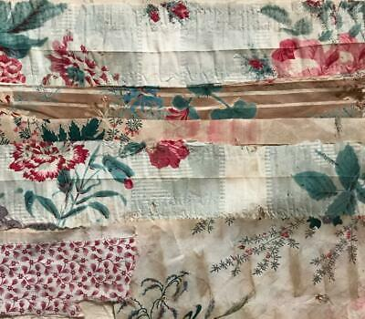 6 BEAUTIFUL SMALL PIECES 19th CENTURY FRENCH LINEN COTTON PROJECTS REF 323