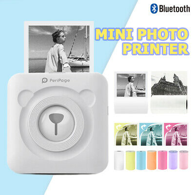 Inkless Bluetooth Pocket Thermal Printer Paper Set Picture Mobile Photo Print 4