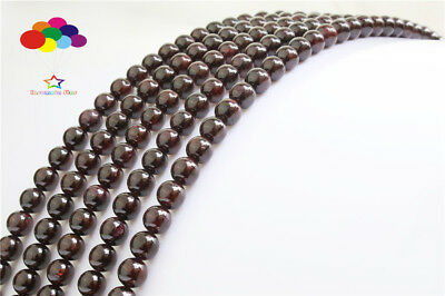 Diy 4/6/8/10/12mm Natural Stone Garnet agate Round Beads fit bracelet necklace