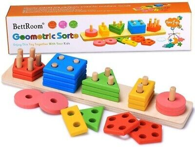 Wooden Educational Preschool Toddler Toys 1 2 3 4 5 Years Old Kids Boys Girls