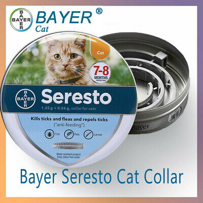 Genuine Bayer Seresto Flea and Tick Collar for Cat 8 Month Protection Treatment