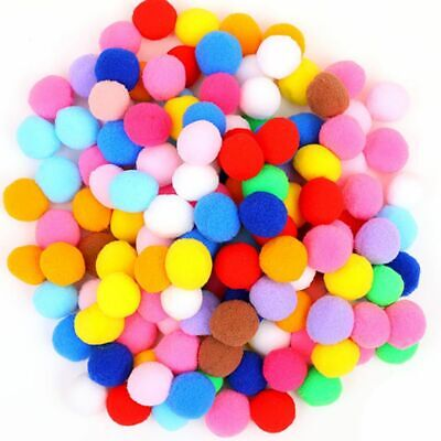 New Mini Fluffy Soft Pompoms Ball Handmade Crafts DIY Sewing Supplies 100Pcs/Lot