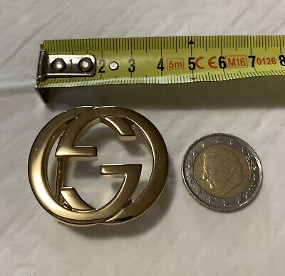Baby Buckle For Belt Gold Fibbia Piccola Per Cintura Gucci Classic Oro
