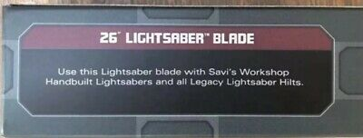 "Star Wars: Galaxy's Edge Legacy 26"" Lightsaber Blade Disney Parks Brand New"