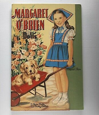 Paper Doll Vintage Margaret O'brien 2 Dolls