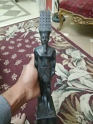 Antique Statue Rare Ancient Egyptian Pharaonic King Amon Black Bc
