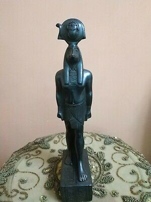 Antique Statue Rare Ancient Egyptian Pharaonic Horus Black Bc 32 cm