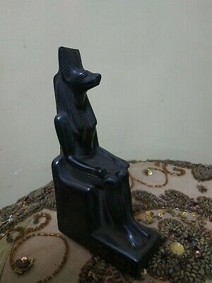 ANTIQUE ANCIENT EGYPTIAN ANUBIS GOD OF DEATH / UNDERWORLD STATUETTE CIRCA Bc