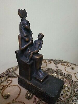 Rare Antique Ancient Egyptian StatueIs Isis beautiful brown Bc