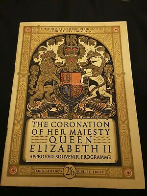 Queen Elizabeth Coronation programme. Immaculate condition