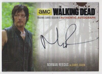 2016 Topps Cryptozoic Amc The Walking Dead Norman Reedus Season 4 Autograph Card