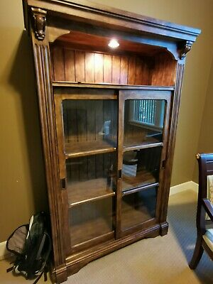 Book Case with Sliding door and built in light