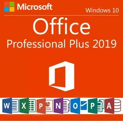 Microsoft Office 2019 Professional Plus| Lifetime Product License Key For 1 PC