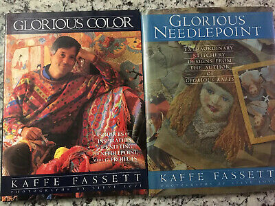 Glorious Needlepoint & Glorious Color by Kaffe Fassett 2 Books