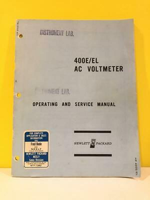 HP 00400-90002 400E/EL AC Voltmeter Operating And Service Manual