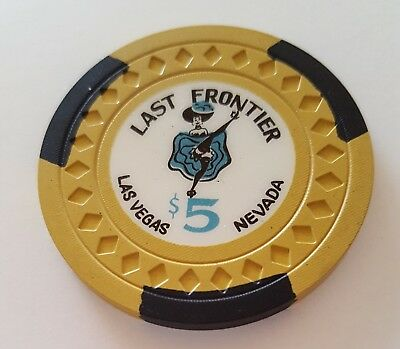$5 Las Vegas Last Frontier Casino Chip - Uncirculated