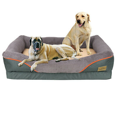"41"" Premium Waterproof Dog Bed Orthopedic Joint Relief Foam Pet Mattress Lounger"