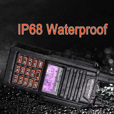 IP67 128CH Baofeng UV-9R Plus Walkie Talkie 10W VHF UHF Dual Band Two Way Radio