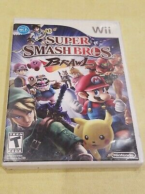 Super Smash Bros. Brawl - Nintendo Wii Game Complete With Manual Free Shipping