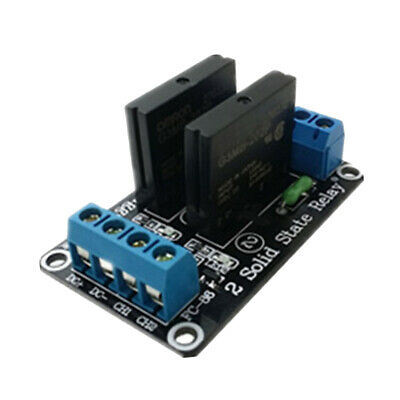 24V 2 Channel Low Level Trigger Solid State Relay Module with Resistive Fuse