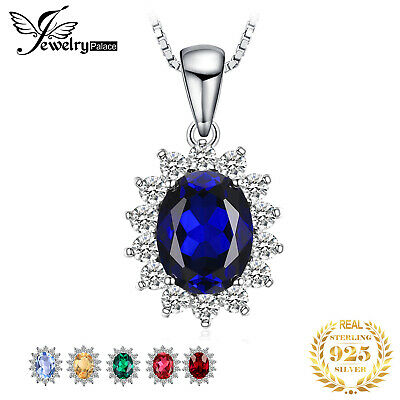 Fashion Female Pendant Oval Solid 925 Sterling Silver Gemstone Jewelry No chain