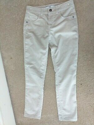 Marks and Spencer Girls Cream Sparkly Trousers, Age 7-8  Years