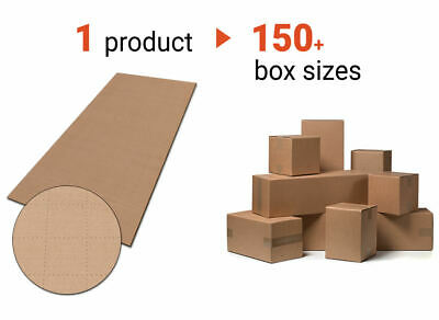 JustFoldMe Cardboard Sheets for Shipping Different Sizes Retail Packing Boxes